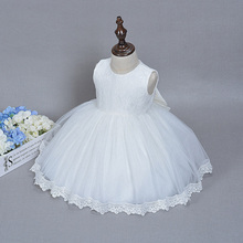 Newborn Baby Girls Christening Baptism Dress Toddlers Lace Flower Princess Wedding Birthday Party Dress Ball Gown Gift for Baby