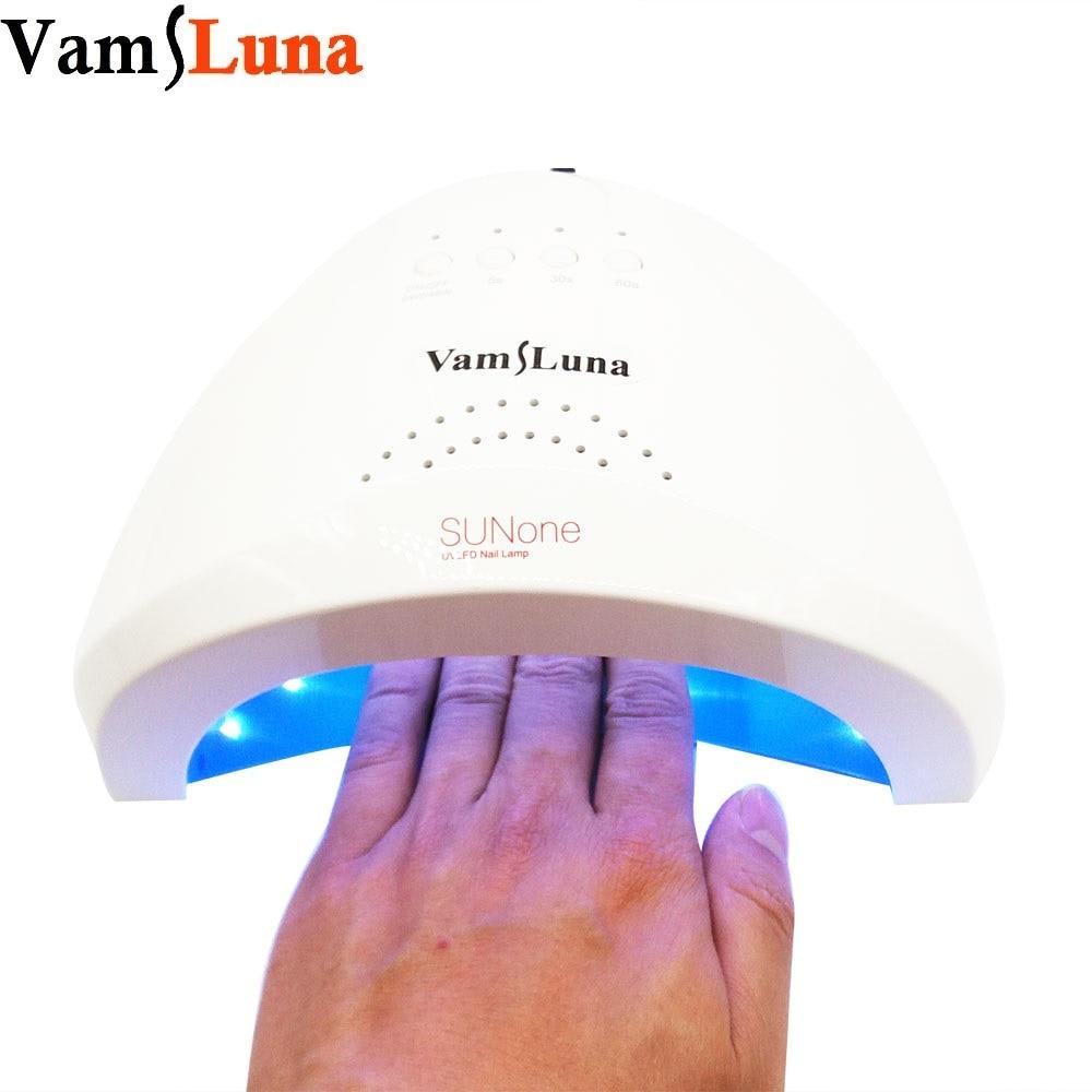 LED Nail Dryer Machine Sunone SunUV- 48W UV Lamp with 5S 30S 60S Timer White Light For Nail Polish Nail Gel Nail Art Tools