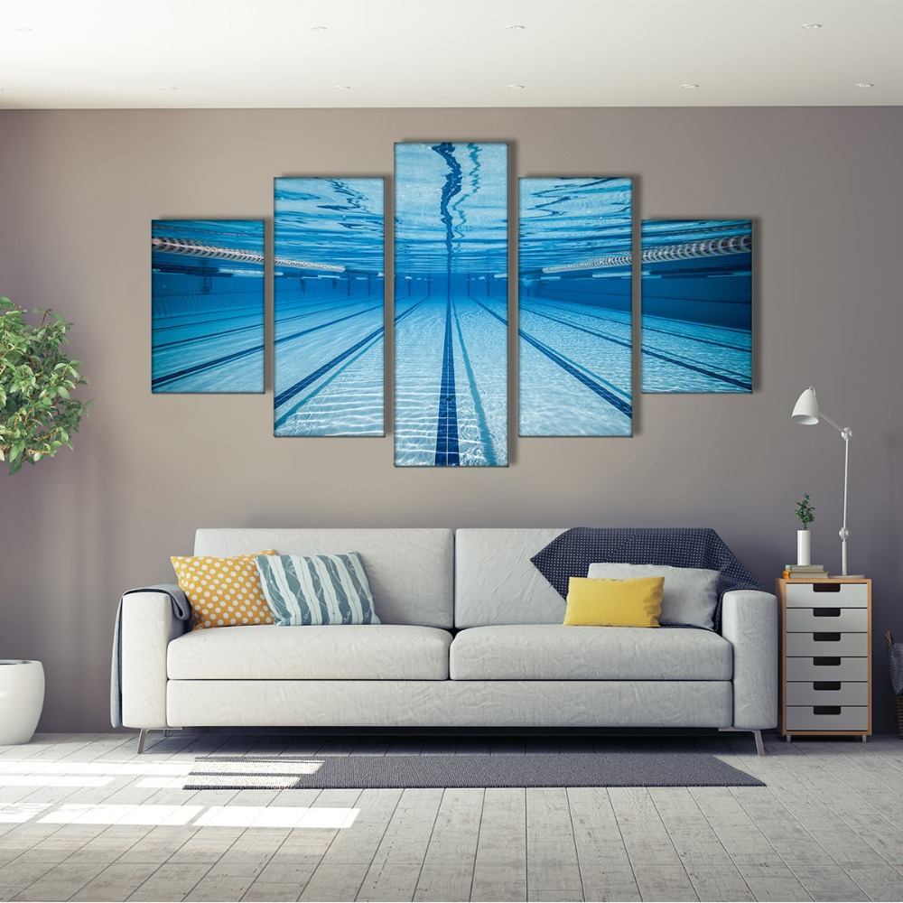 Home Decor Wall Art 5Piece Home Decor Wall Art Pictures Painting Print Poster Swimming