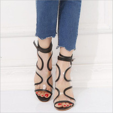 Sandalias femeninas high heels Autumn Flock pointed sandals sexy female summer shoes Female mujer