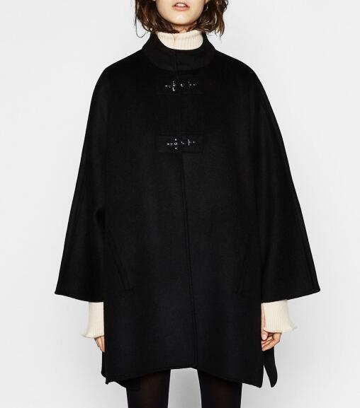Popular Black Cape Coat-Buy Cheap Black Cape Coat lots from China ...