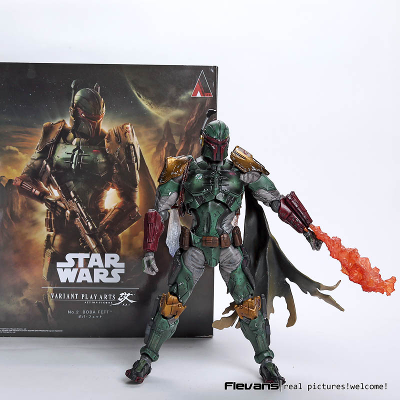 Playarts KAI Star Wars NO.2 Boba Fett PVC Action Figure Collectible Model Toy 25.5cm SWFG106  funko pop star wars boba fett 08 pvc action figure collectible model toy 12cm fkfg126 retail box sp050