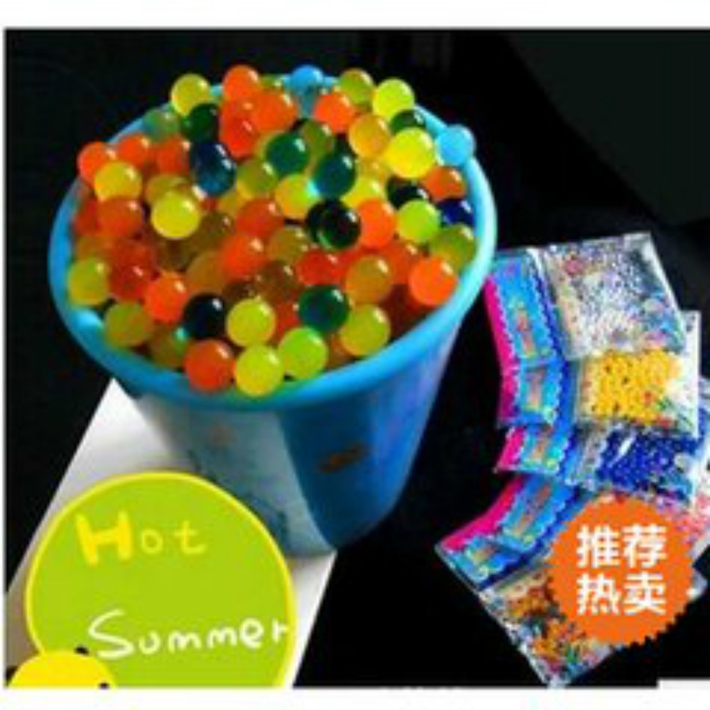 B 6bag Soft Crystal Water Beads Paintball Bullet Gun like Toy for Bibulous Ball Metal Pneumatic for Water Gun PINGYOU6