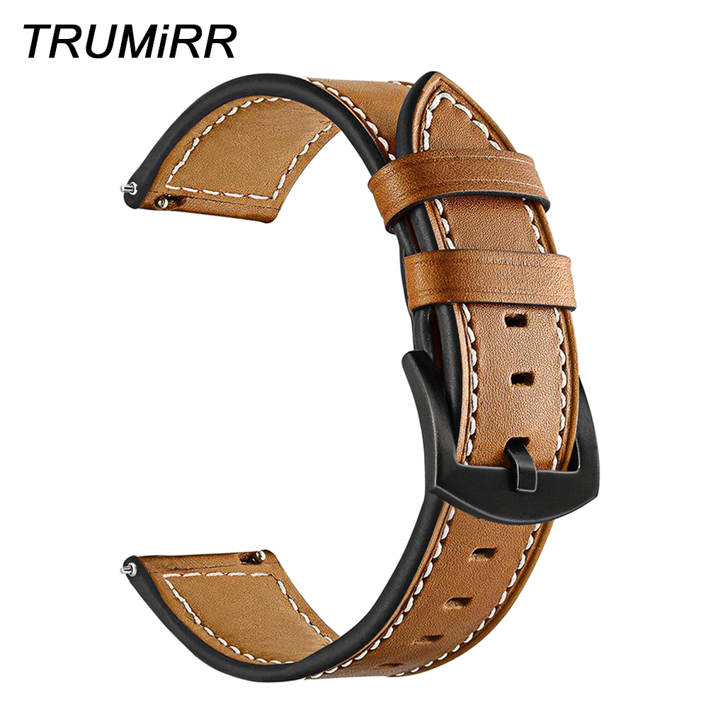 Quick Release Genuine Leather Watchband 20mm 22mm for Casio Seiko Citizen Timex