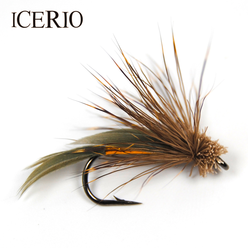 ICERIO 10PCS Brown Muddler Minnow Trout Fly Fishing Streamer Flies #6