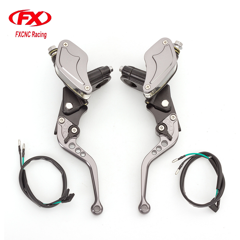 FX CNC 7/8 22MM Universal Motorcycle Clutch Brake Lever Master Cylinder For 125CC-300CC Yamaha Suzuki Kawasaki Honda CBR 250 125 free shipping 7 8 skull master brake cylinder clutch lever for harley for honda for suzuki for kawasaki