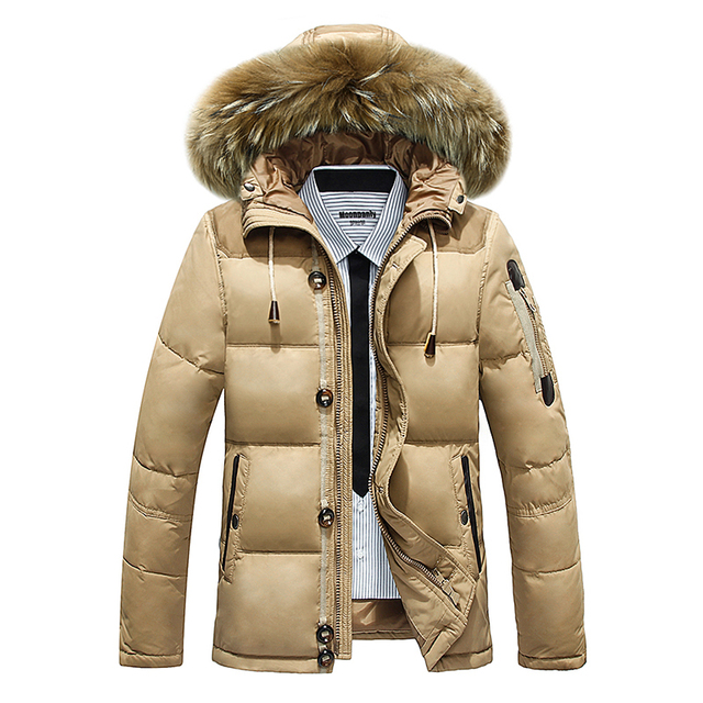new 2016 White cotton down jacket male youth leisure jacket and coat thickening men's clothing Winter warm overcoat