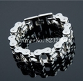 New Brand Stainless Steel 18mm Width Heavy Motorcycle Bike Chain Bracelet jewelry 9""