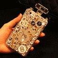Handmade bling do diamante caso frasco de perfume para galaxy s7 s6 edge s5 note 5 4 3 tpu macio capa para iphone 4 4s 5 5s 6 6 s 6 plus
