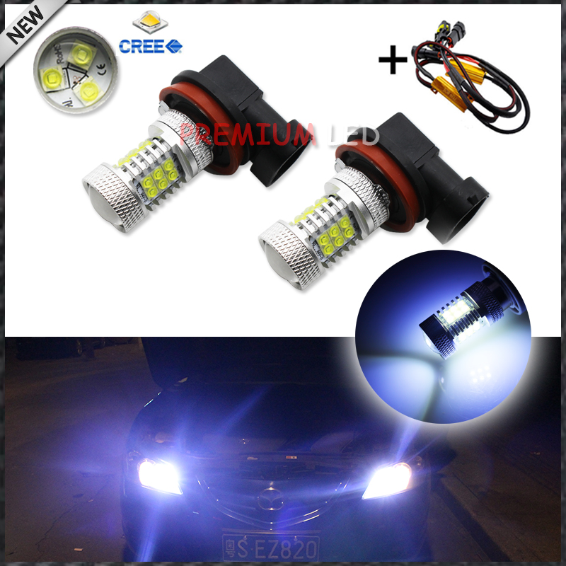 2pcs 8000K Light-Blue 105w 21-SMD CRE'E H11 H8 LED Replacement Bulbs For Fog Lights Driving Lamps + Error Free Canbus Decoders конструктор lego bionicle 71301 кетар тотемное животное камня