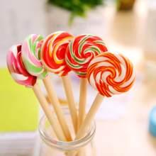 1636d7f12e24 1 Piece Kawaii School Supply Office Stationery Ballpoint Pen Handles  Creative Cute Gift Lollipop Sweet Candy Freebie Styling