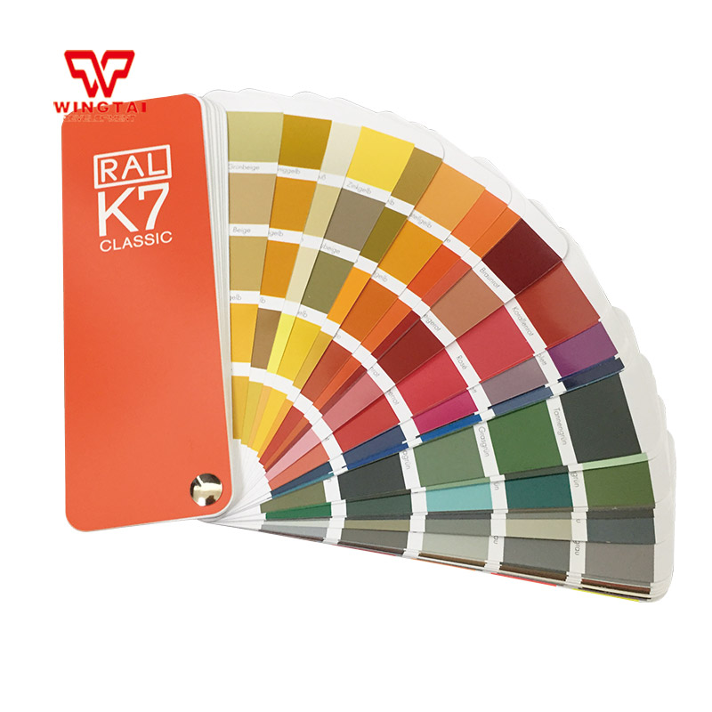 1 book German RAL Color Guide K7 Color Fan Deck With 213 RAL CLASSIC colours цена