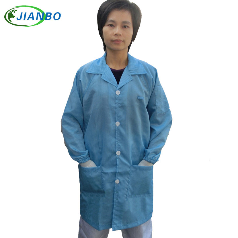 Anti Static Protective Clothing Cleanroom Garments ESD Coat Working Clothes Antistatic Work Wear Conductive Filament Clean Coat carbon fiber antistatic brush remove static electricity 1460x1400mm
