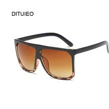 Flat Top Fashion Sunglasses Women Brand