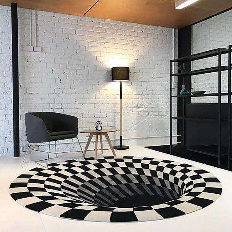 Современный Лаконичный акриловый большой ковер для гостиной, спальни, черный Дизайнерский ковер в виде ловушки для спальни, модный коврик на заказ для примерочной комнаты - Цвет: 1
