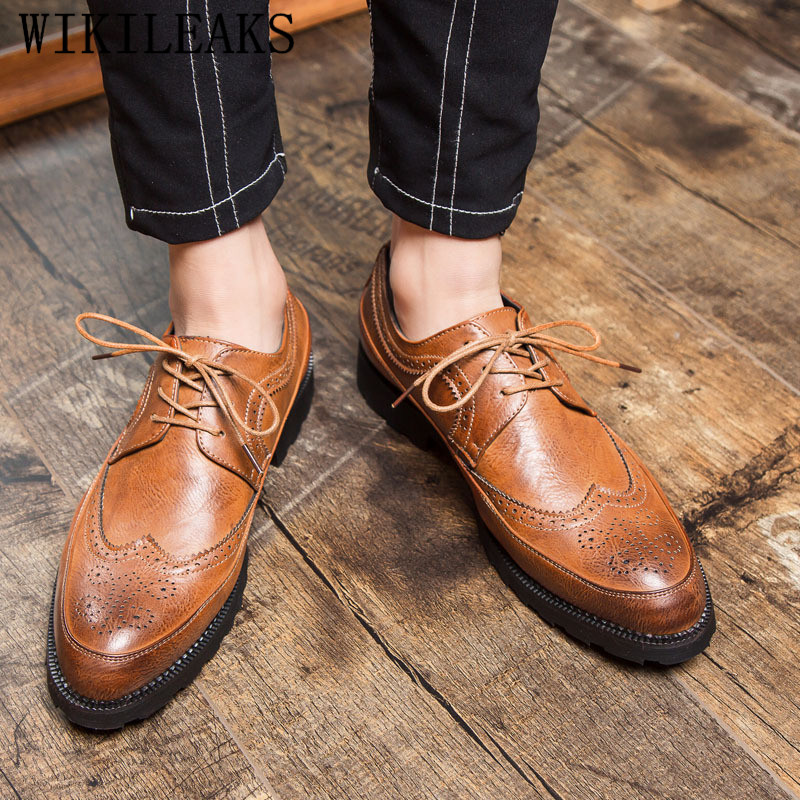 Italien de luxe marque hommes chaussures habillées oxford chaussures pour hommes chaussures zapatos de hombre de vestir formelle sapato sociale masculino 1