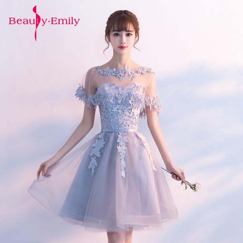Beauty Emily Cappa Appliques Prom Gown Dress For Graduation Evening Dresses Long Party Elegant Vestido De Festa Free Shipping