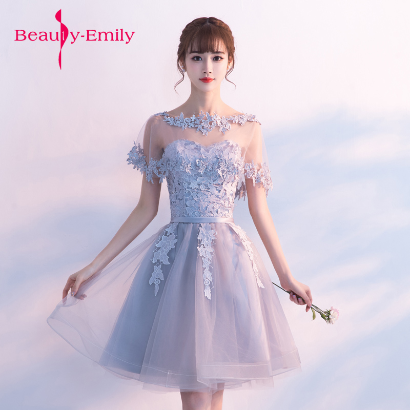 Beauty Emily cappa appliques prom gown   dress   for graduation   Evening     Dresses   long Party Elegant Vestido De Festa free shipping