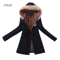 2016 New Autumn Winter Women Jacket Cotton Padded Casual Slim Coat Emboridery Hooded Parkas Plus Size
