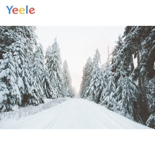 Yeele Winter Landscape Forest Snow Mount Room Decor Photography Backdrops Personalized Photographic Backgrounds For Photo Studio