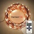 30 M branco quente luzes da corda de fio de cobre de fadas estrelado regulável + controle remoto, festival árvore decorativa do casamento do jardim cordas