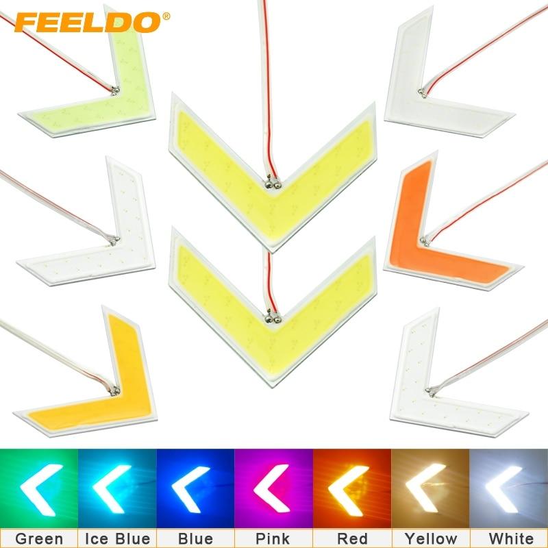 FEELDO 50Pcs Auto COB 18 SMD 18 LED Arrows Lamp Indicator Safe led Panels Car Side