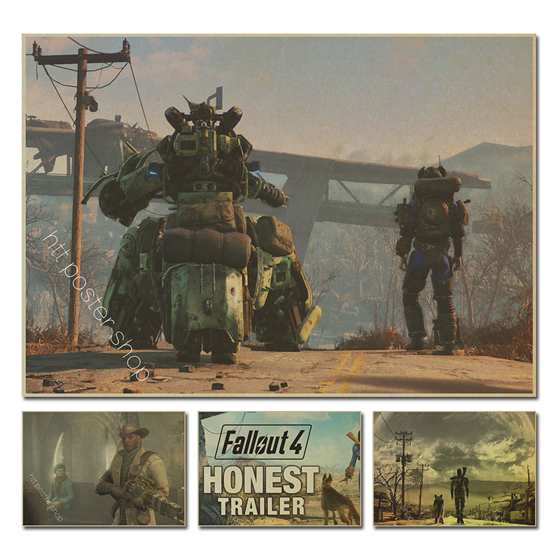 Fallout 4 Game vintage Poster Home Furnishing decoration