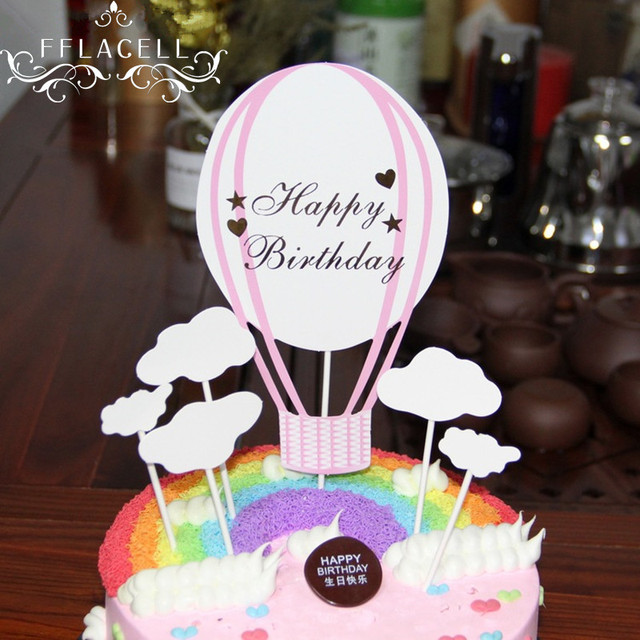 Aliexpress Buy Fflacell Cake Decoration Hot Air Balloon Cake