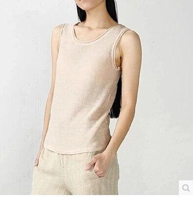 2018 frühling Sommer Neue Mode Frauen Tank Sleeveless Bluse Gestrickte Pullover Leinen Weibliche Tops Einfarbig Haute Couture