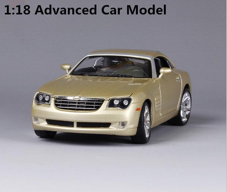 1:18 Advanced alloy car model, high simulation Chrysler Crossfire sports car, metal cast, 2 open door, free shipping 1 18 otto renault espace ph 1 2000 1 car model reynolds