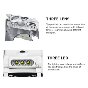 Image 5 - TUNGFULL 안경 루페 시계 제조 업체 수리 도구 안경 돋보기 LED 헤드 밴드 돋보기 1.5x 2x 2.5x 3x 3.5x 8
