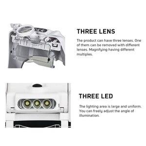 Image 5 - Tungfull óculos lupa relógio ferramenta de reparo óculos lupa led cabeça lupa 1.5x 2x 2.5x 3x 3.5x 8