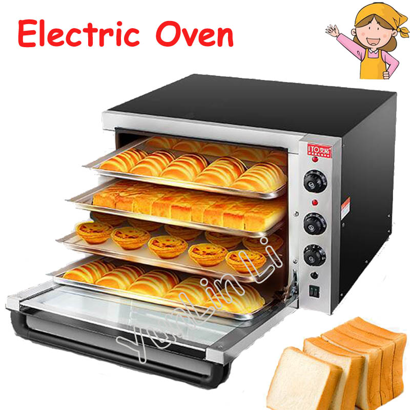 220V Large Capacity Oven 4500W Commercial Electric Oven Cake Bread Large Pantry Oven Hot Air Circulation Oven