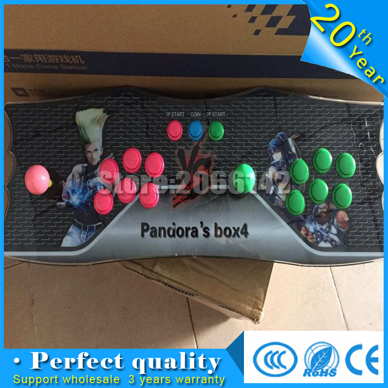2017  Pandora 645 in 1 games Box 4 with VGA and HDMI  Output two players  family console pandora box 4s 680 in 1 new arrival arcade family console with vga and hdmi output 680in1 pc ps3 or xbox360