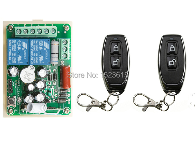 NEW AC220V 2CH 10A Radio Controller RF Wireless Relay Remote Control Switch 315 MHZ 433 MHZ