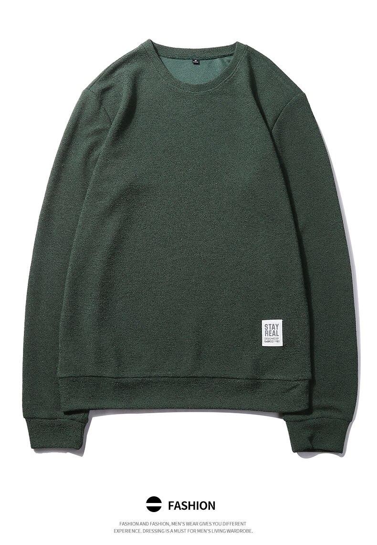 7Colors Autumn Casual Men Sweatshirts Solid Hoody Top Basic O Neck Sport Hoodies Male Spring Crewneck Streetwear Brand Clothing 09