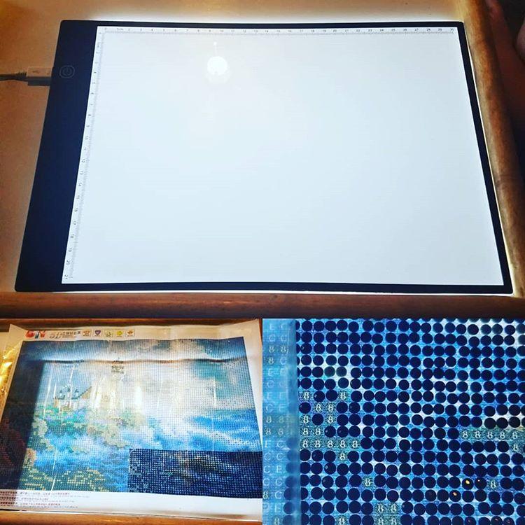 MHD A4 LED artiste mince Art moule planche à dessin boîte à lumière suivi tapis de Table bricolage diamant broderie ue/UK/AU/US/prise USB