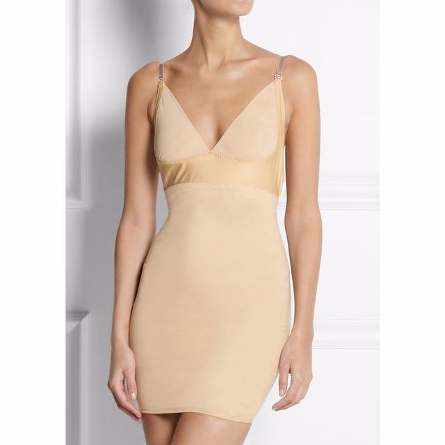 7480ddba26 S-6XL Tummy Control Backless under dress garment shapewear control slip  body shaper for wedding evening bridal bride dress E114