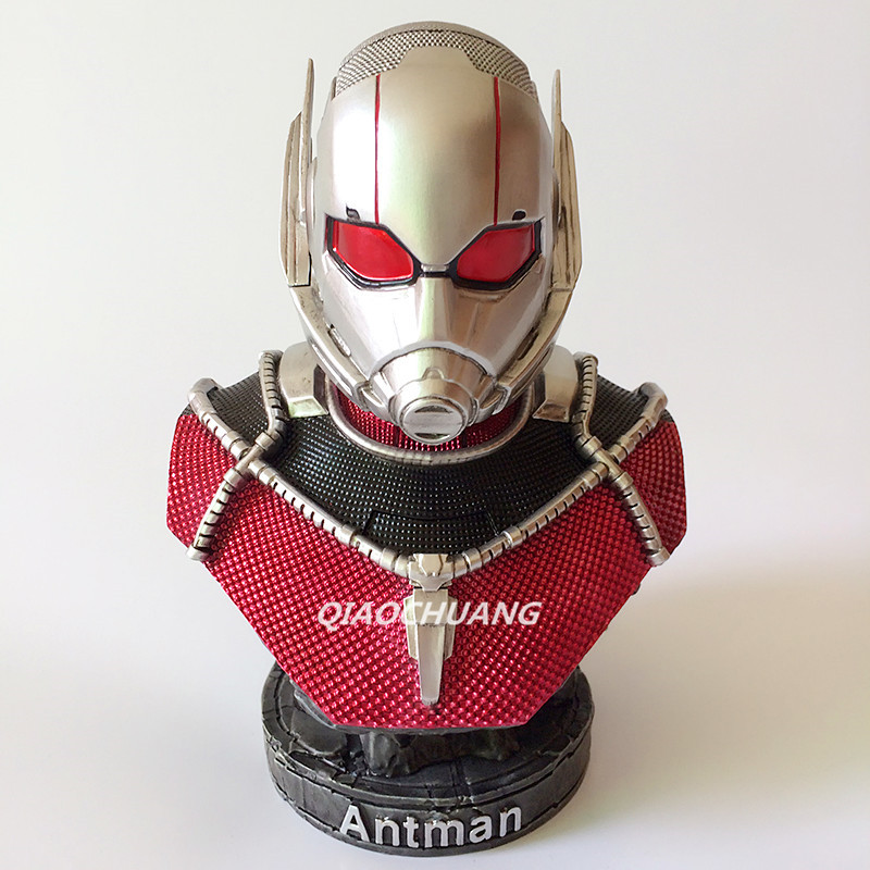 Captain America: Civil War Statue Avengers Ant-Man Bust Superhero Scott Lang Half-Length Photo Or Portrait Resin Model Toy W143 1 6 scale 30cm the avengers captain america civil war iron man mark xlv mk 45 resin starue action figure collectible model toy