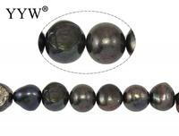 Cultured Baroque Freshwater Pearl Beads Black Grade AA 12 13mm Approx 0.8mm