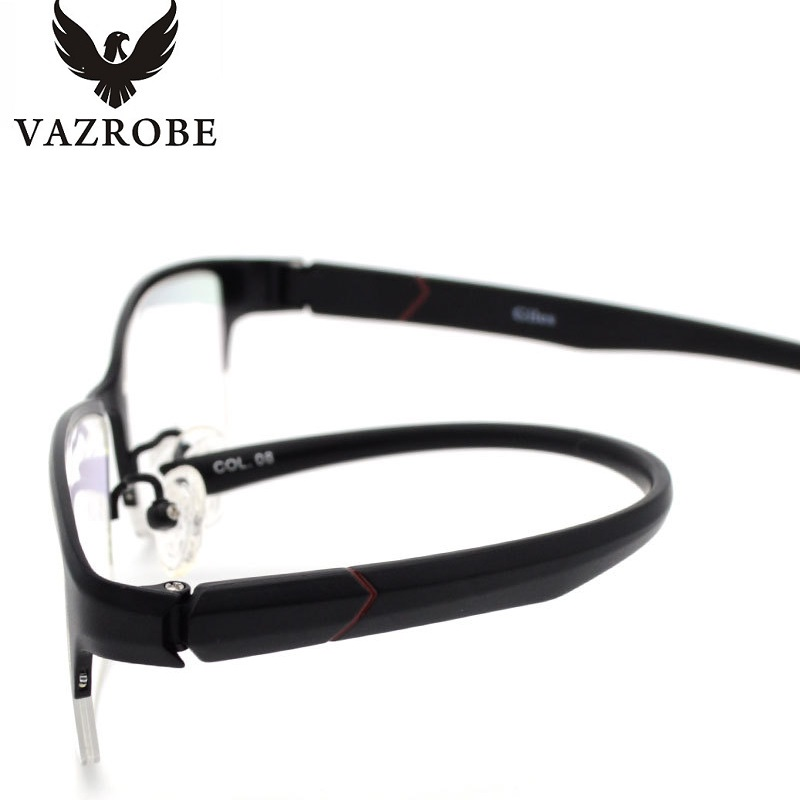 vazrobe best semi rimless pure titanium glasses frame for men 15g custom make