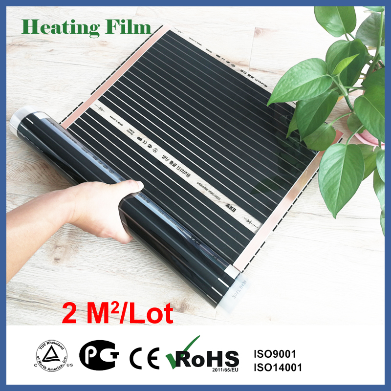 Floor heating film 2 square meter, 220Watt/ square meter, room heater for bed room, under floor heating film with accessoriesFloor heating film 2 square meter, 220Watt/ square meter, room heater for bed room, under floor heating film with accessories