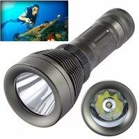 IKVVT 8000 Lumens Underwater T6 LED Diving Flashlight Torch Scuba Lamp Light 80M