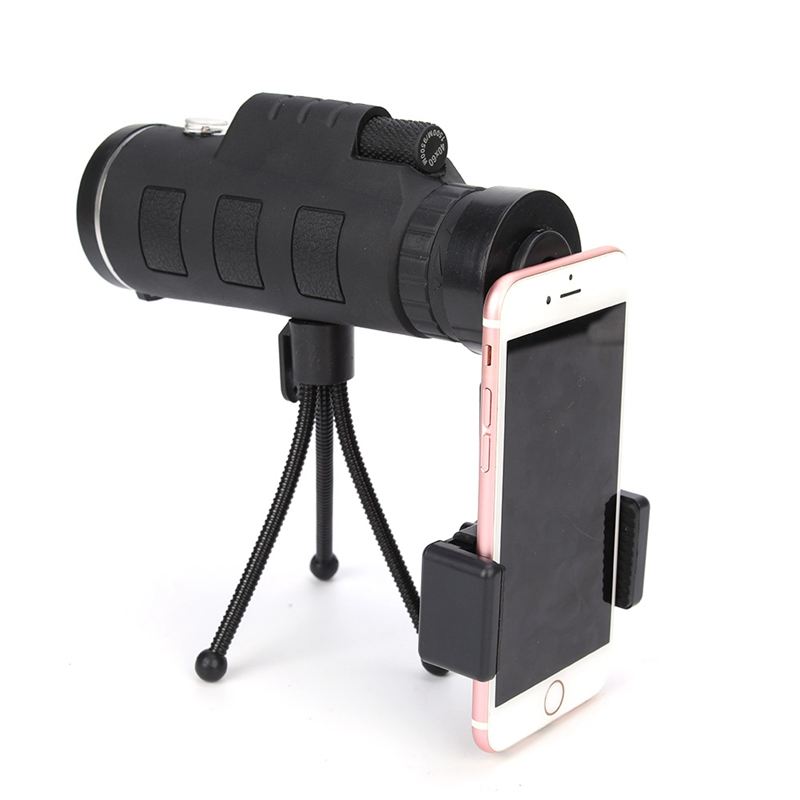 40X60 Zoom Monocular Telescope Scope for Smartphone Camera Camping Hiking Fishing with Compass Phone Clip Tripod|Mobile Phone Lens| |  - title=