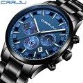 Relogio Masculino 2019 мужские часы CRRJU модные спортивные кварцевые часы мужские часы Топ бренд класса люкс Бизнес водонепроницаемые наручные часы