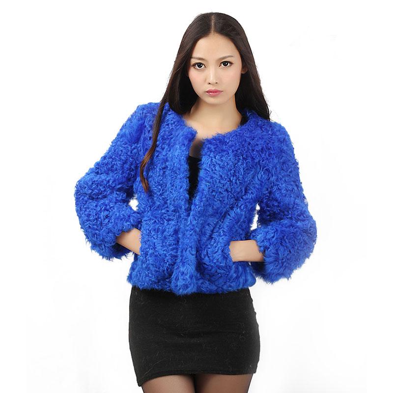Для женщин Подлинная Рекс мех ягненка подол лоскутное корейский стиль зима Для женщин мех верхняя одежда пальто
