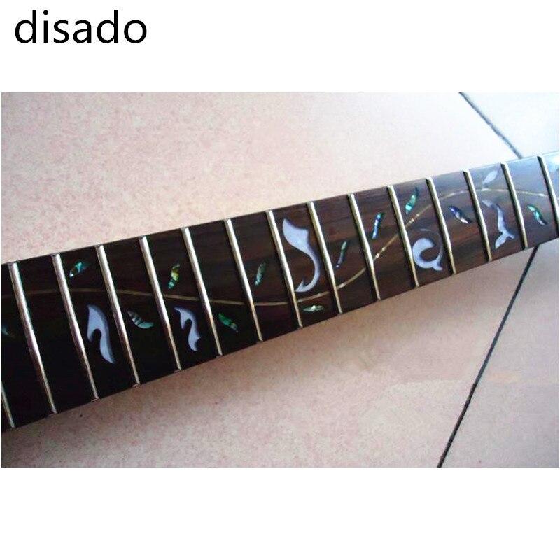 Disado 24 Frets inlay Arbre de Vie d'érable Guitare Électrique Cou Guitare accessoires Pièces Peut être personnalisé instrument de musique