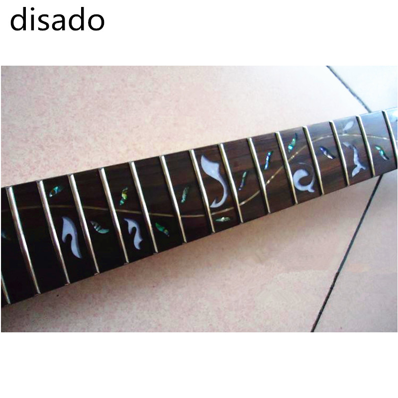 Disado 24 frettes incrusté arbre de vie érable guitare électrique cou guitare accessoires pièces peuvent être personnalisé instrument de musique