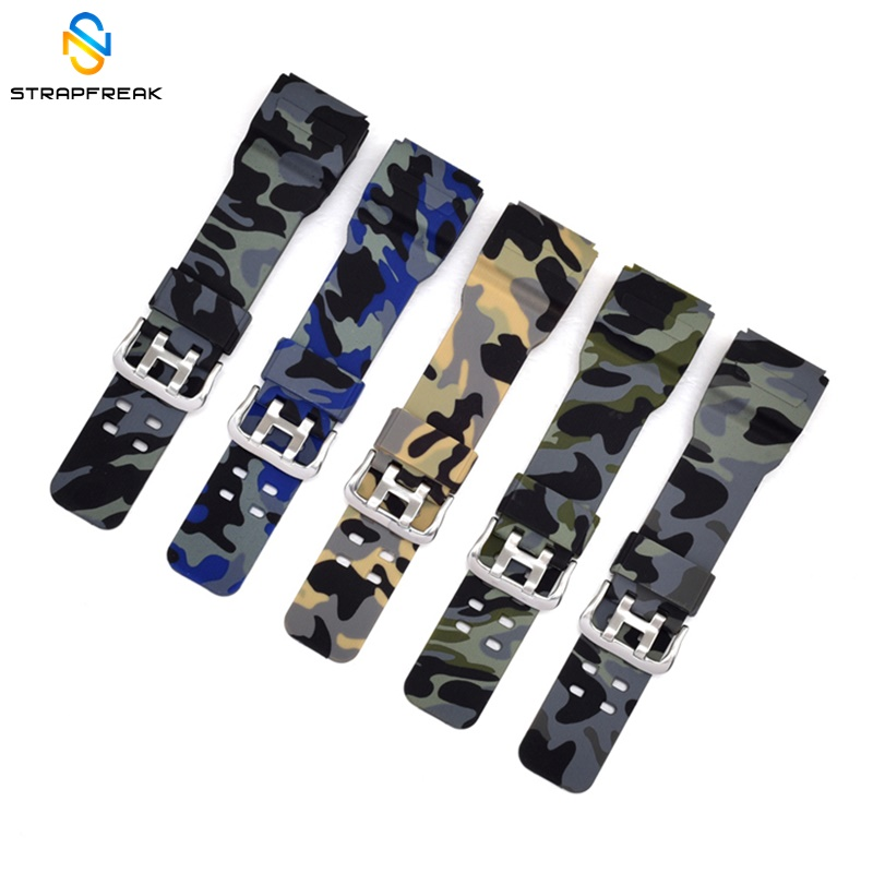 Sport Watchband for Casio gg-1000/GWG-100/GSG-100 G-Shock Camouflage Rubber Watch Strap Bands Waterproof Watch Belt image