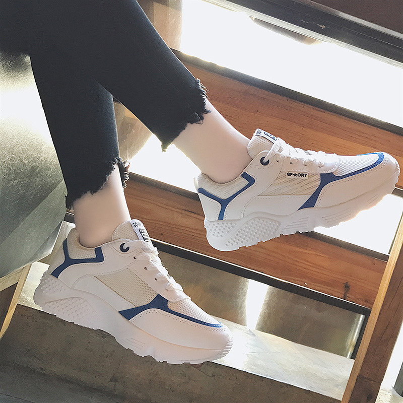 Sports Shoes Woman College Version Little White Women Shoes Fitness Jogging Breathable Shoes Student Running Shoes Tennis